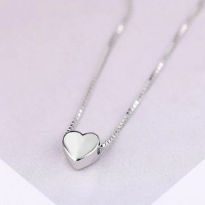 NEW 925 STERLING SILVER PLATED HEART NECKLACE